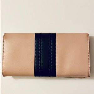 Tory Burch Bags - Tory Burch pink and black continental wallet